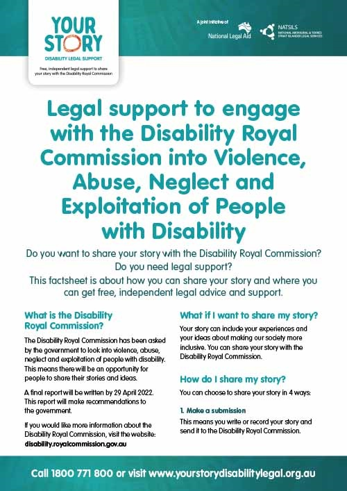 Legal support to engage with the Disability Royal Commission thumbnail