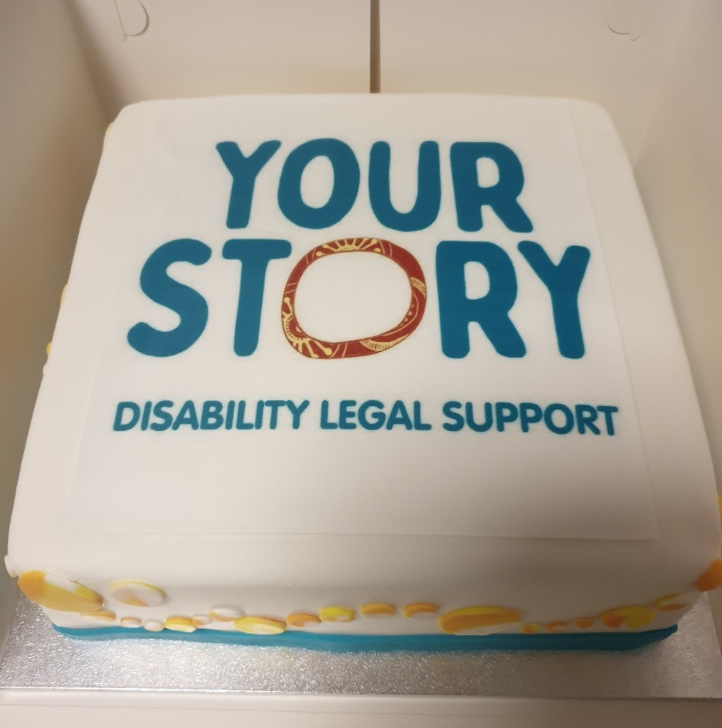 Picture of Your Story Disability Legal Support celebration cake